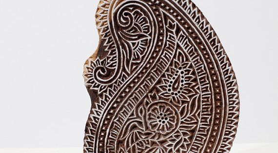 This beautiful hand carved patterned wood block is