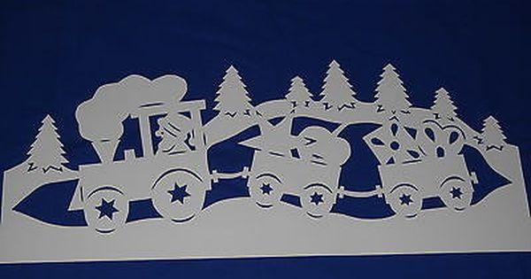 fensterbild tonkarton winter weihnacht zug nikolaus