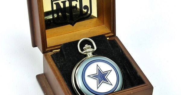 Dallas Cowboys NFL Pocket Watch & Case Danbury Mint # ...