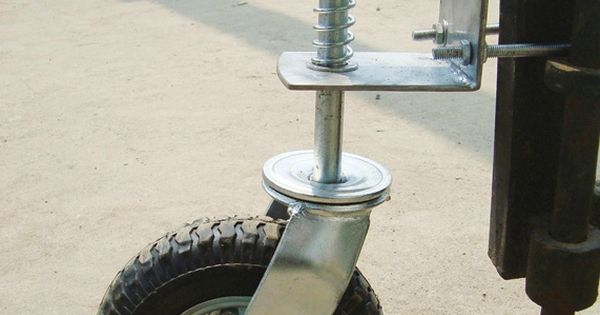 Gate Wheel With Suspension 210 Lb Capacity 8in