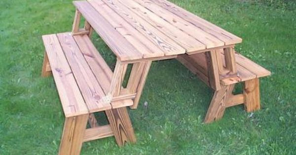 Picnic table that turns into benches projects for chad pinterest picnic tables Picnic table that turns into a bench