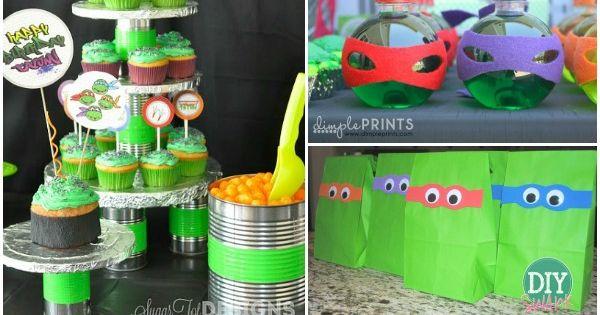 10 Creative Teenage Mutant Ninja Turtle Party Ideas. TMNT party ideas that