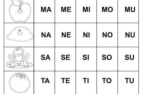 Silabario En Espanol Para Mungfali Silabario En Espanol Silabas Para Imprimir Silabas