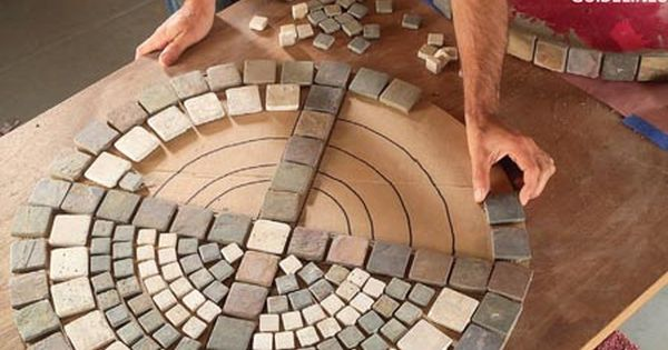 DIY- how to make an outdoor mosaic table Re-do the round patio