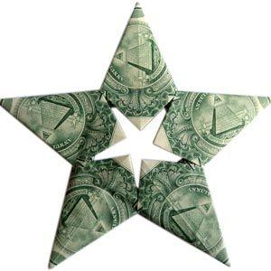 Origami Dollar Star