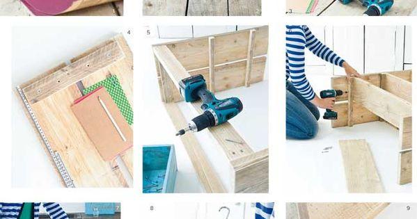 Bricolage facile en planches et carreaux de ciment diy for Bricolage bois facile