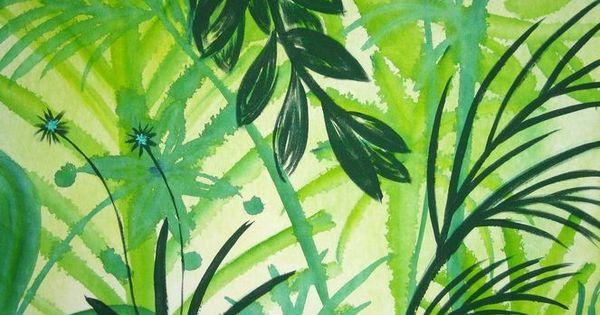 Dschungel in gr n for Dschungel malen