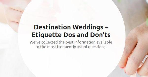 ... Destination Weddings Pinterest Wedding, Wedding etiquette and Tips