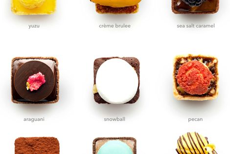 I've never seen such beautifully designed and whimsical tarts. Moveover cupcakes, these