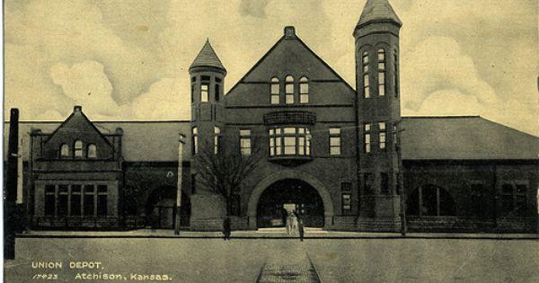17423 Union Depot 1908 Atchison Kansas Home On The Range