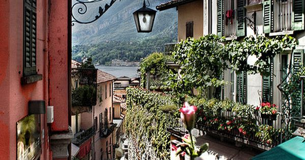 Bellagio town and the lake of Como, Italy