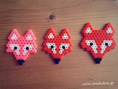 Bugelperlen Ideen Vorlage Fuchs Basteln Bugelperlen