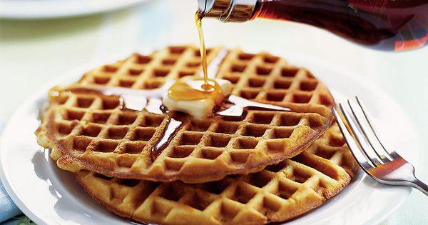 Crispy waffle, Syrup and Waffles on Pinterest