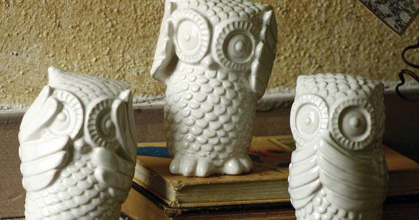 {Hear No, See No, Speak No Evil Owls} how adorable!