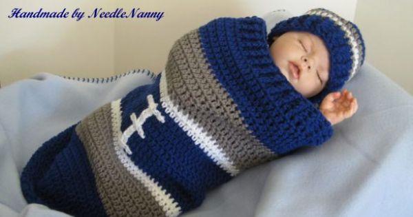 Dallas Cowboy Baby Cocoon Football Cocoon Amp Hat Crochet