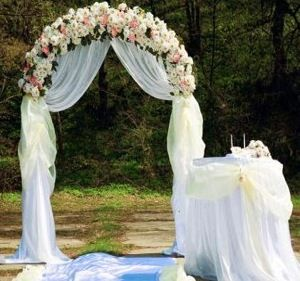 Http Www Buzzle Com Images Wedding Arches Wedding Arch With Table Jpg Arch Decoration Wedding Wedding Arches Outdoors Diy Wedding Arch