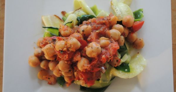 Zucchini Noodles with Arrabiata Chickpea Sauce | Recipe | Zucchini ...