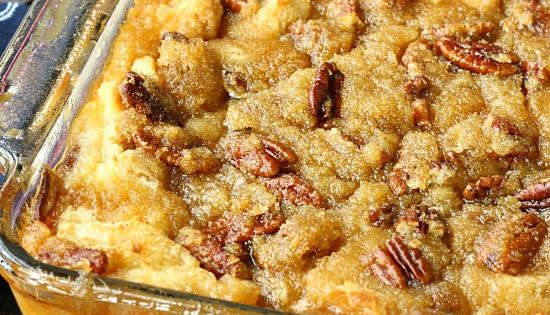 Pecan Pie Bread Pudding from http://callmepmc.com combining 2 classics this bread pudding