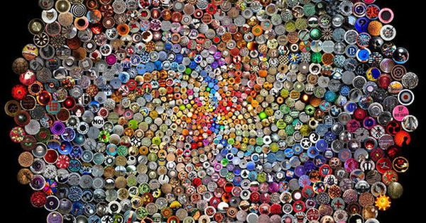 unbelievable button art - wouldn't this be cool to tile a table