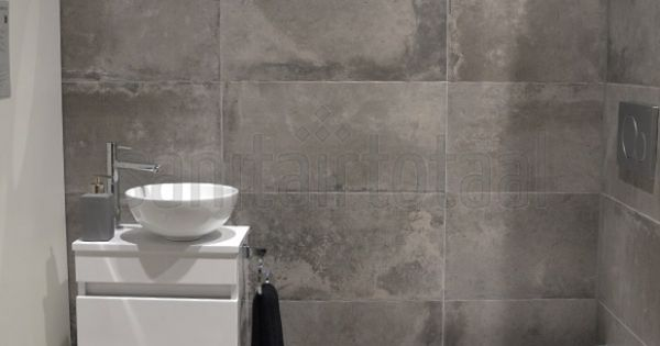 Betonlook badkamer beton vloer betonlook tegels hout wit betonlook idee n betonlook - Badkamer beton wax ...