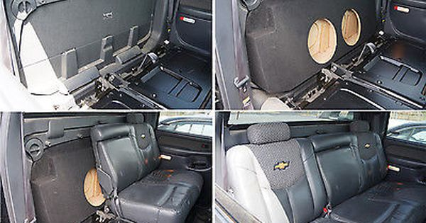 Custom Chevy Avalanche 02 13 Dual 10 Subwoofer Box Bass Speaker Sub Enclosure Chevy Avalanche Custom Silverado Chevy