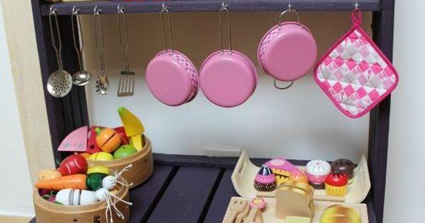 Homemade...une étagère pour sa dinette ♥
