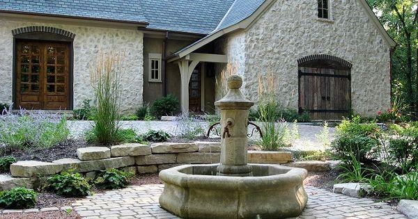 Fontaine centrale en pierre l 39 octogonale 170 cm avec 4 for Au jardin des sans pourquoi