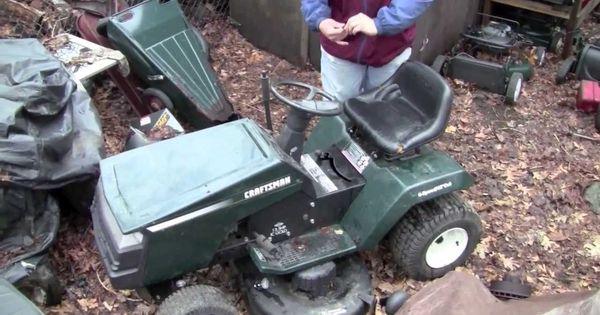 Starting The Green Craftsman Lt4000 April 2011 Lawn Mower Craftsman Riding Mower