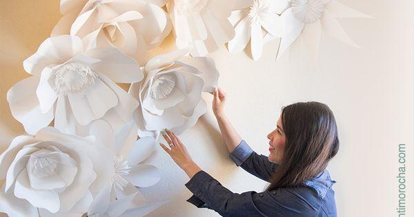 Giant paper rose DIY