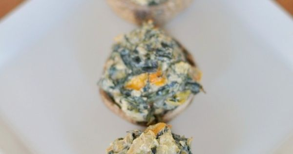 Spicy Spinach Artichoke Stuffed Mushrooms | Recipe | Stuffed Mushrooms ...