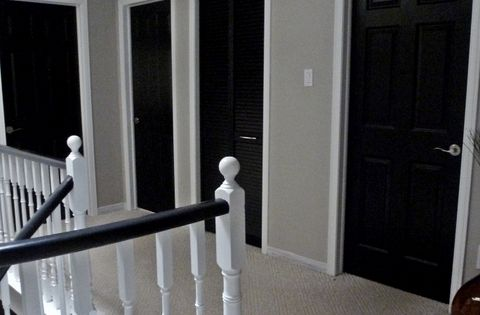 black interior doors white trim two coats sw all surface lacquer in. Black Bedroom Furniture Sets. Home Design Ideas