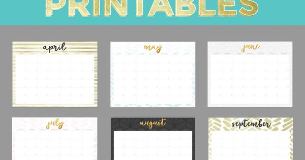 Calendar Design Options : Oh so lovely is excited to share tons of free