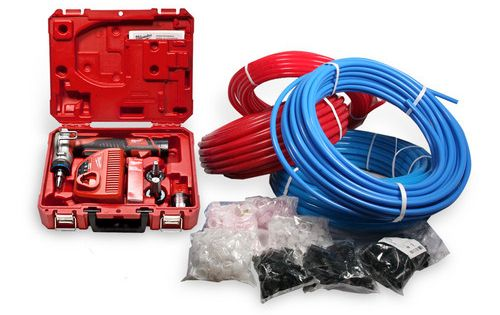 Uponor wirsbo pex plumbing starter kit plumber for Pex plumbing pros and cons