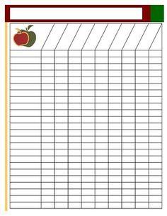 Blank Class List Template Classroom Charts Class Roster