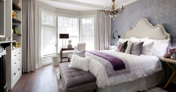 Alison And I Loved Working On The Feminine Master Bedroom For Candice The Wallpaper Looked Like