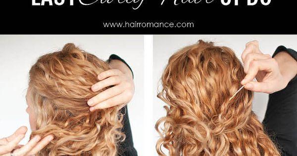 Super f cil tutorial de peinado updo para el pelo rizado - Tutorial de peinados ...