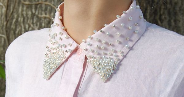 Tutorial: Pearled Shirt Collar DIY CRAFTS
