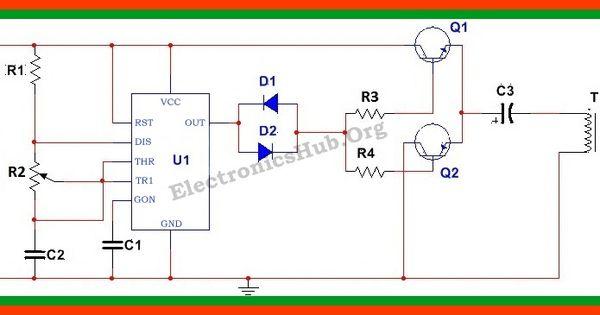 circuit diagram of 12v dc to 220v ac converter