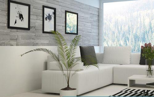 T cnica combinada de textura y piedra decoalb pintura - Piedra decorativa para paredes ...