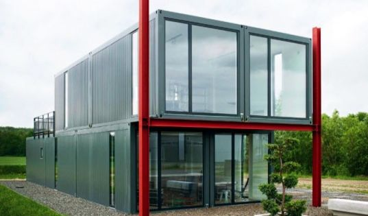 Koma Modular's Live-Work Store in Lüneburg, Germany is Made from Recycled Shipping