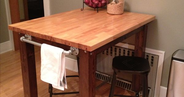 Kitchen island we built from scratch 4x4s a little stain for Building a kitchen island from scratch