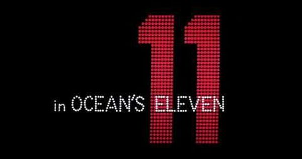 Oceans 11 Lewis Milestone I Found That This Title Sequence Is