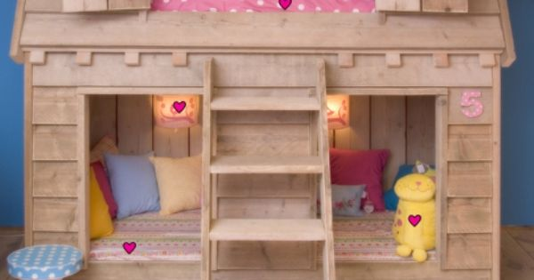 Do It Yourself Home Design: Amazing Child's Loft Bed In The Shape Of Bird's House