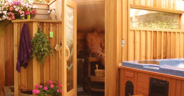 Saunaraum gestalten  spa garten gestalten | Ideen | Pinterest | Saunas