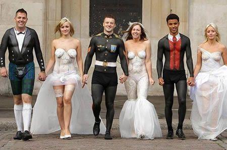 Body Painting Wedding Dress Fails Weird Wedding Dress Unusual Wedding Dresses