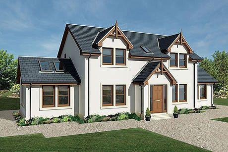 Orange Scotframe Timber Frame Homes Portfolio House Plans Uk Self Build Houses House Designs Exterior