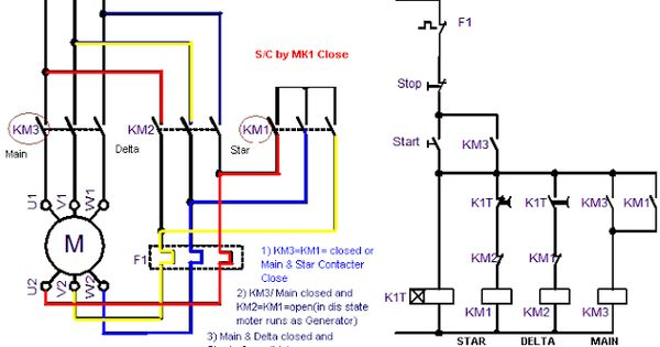 electric motor wiring diagrams 3 phase power circuit of star delta starter electrical info pics