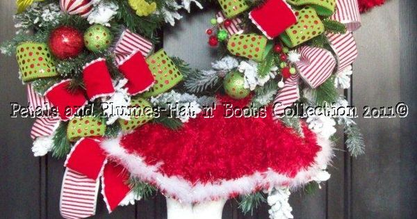 Mrs. Santa wreath idea