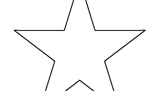 7 Inch Star Pattern. Use The Printable Outline For Crafts