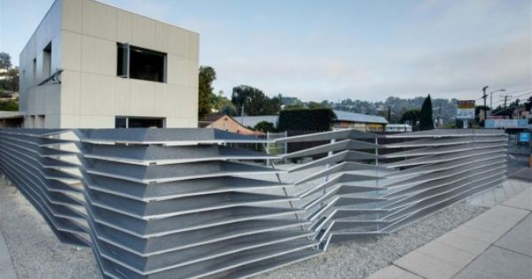 Hyperion Project Oyler Wu Collaborative Building Design Modern Fence Design Architecture